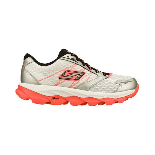 Womens Skechers GO Run Ultra Running Shoe - White/Black 8.5