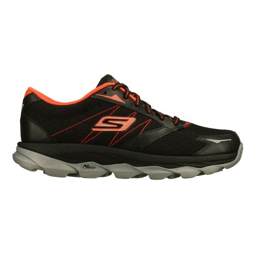 Mens Skechers GO Run Ultra Running Shoe - Black/Red 10.5