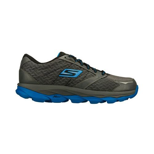 Mens Skechers GO Run Ultra Running Shoe - Charcoal/Blue 10.5