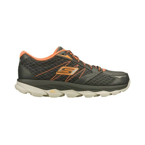 Mens Skechers GO Run Ultra Running Shoe - Charcoal/Orange 6.5