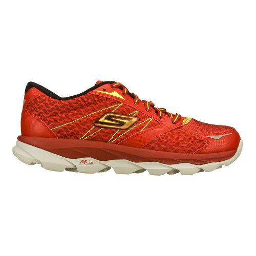 Mens Skechers GO Run Ultra Running Shoe - Red/Lime 8.5