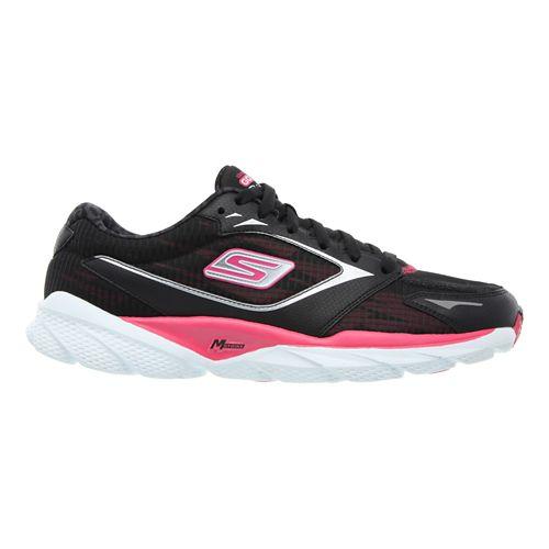 Womens Skechers GO Run Ride 3 Running Shoe - Black/Pink 7.5
