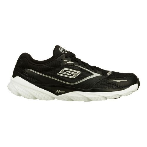 Womens Skechers GO Run Ride 3 Running Shoe - Black/White 10