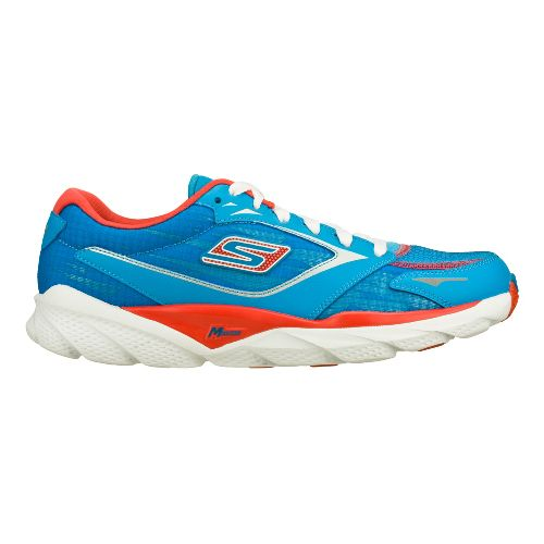 Womens Skechers GO Run Ride 3 Running Shoe - Blue/Red 7.5