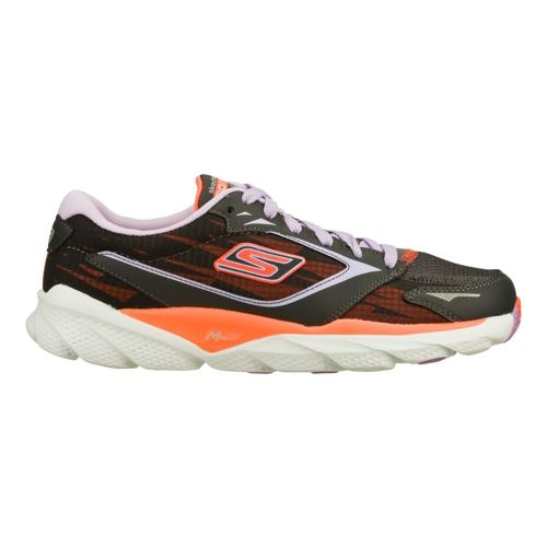 Womens Skechers GO Run Ride 3 Running Shoe - Charcoal/Coral 5.5