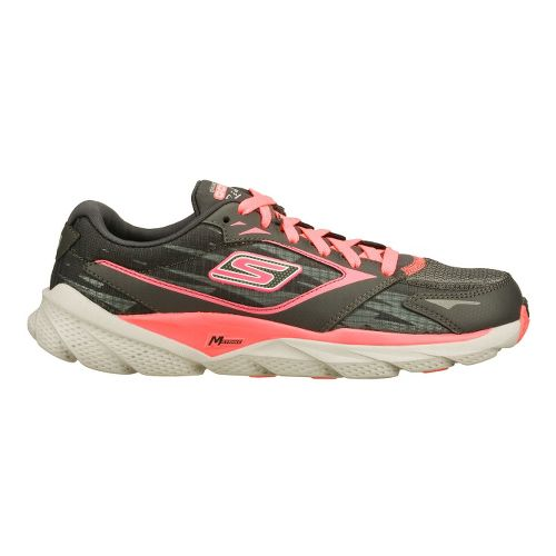 Womens Skechers GO Run Ride 3 Running Shoe - Charcoal/Hot Pink 10