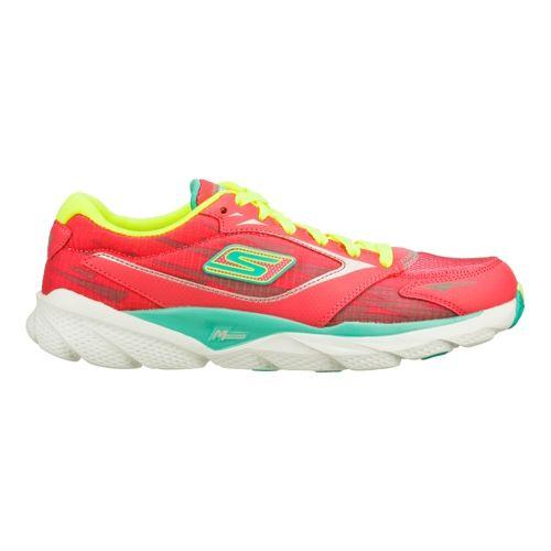 Womens Skechers GO Run Ride 3 Running Shoe - Hot Pink/Aqua 6.5