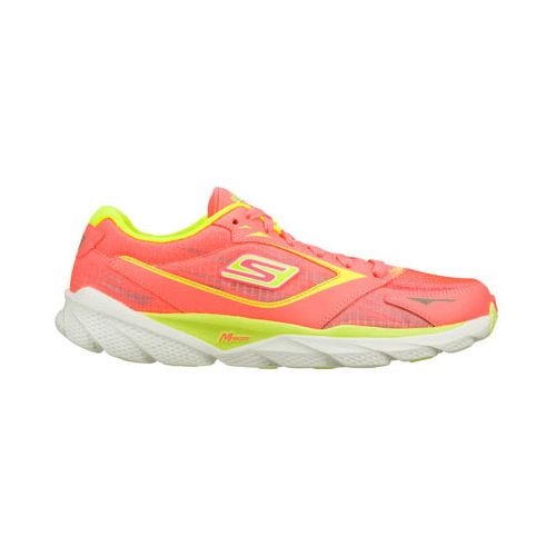 Womens Skechers GO Run Ride 3 Running Shoe - Hot Pink/Lime 8.5