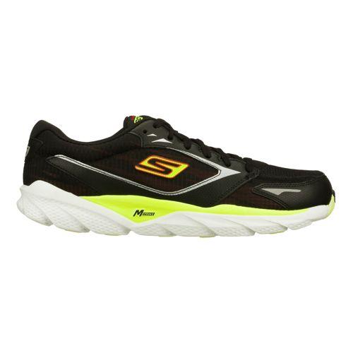 Mens Skechers GO Run Ride 3 Running Shoe - Black/Lime 9