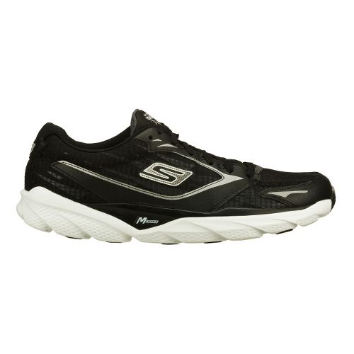 Mens Skechers GO Run Ride 3 Running Shoe - Black/White 6.5