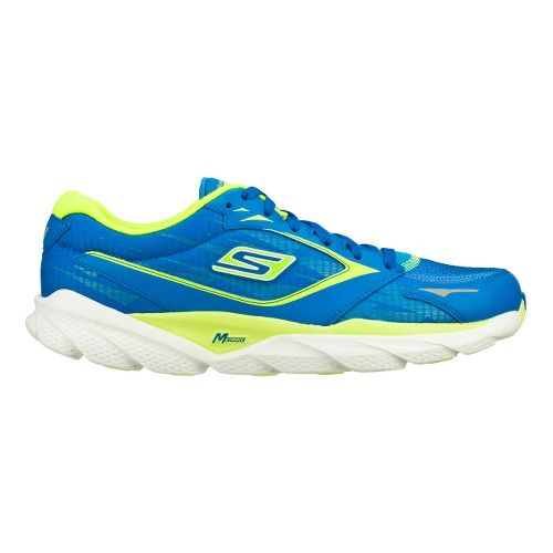 Mens Skechers GO Run Ride 3 Running Shoe - Blue/Lime 8