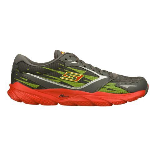 Mens Skechers GO Run Ride 3 Running Shoe - Charcoal/Red 7.5