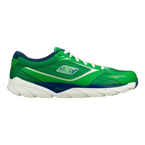 Mens Skechers GO Run Ride 3 Running Shoe - Green/Blue 10