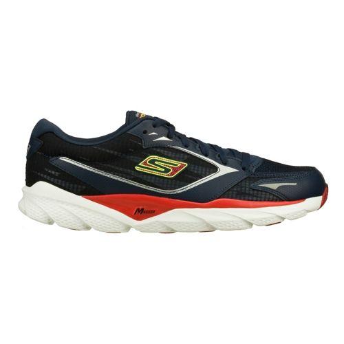 Mens Skechers GO Run Ride 3 Running Shoe - Navy/Red 10