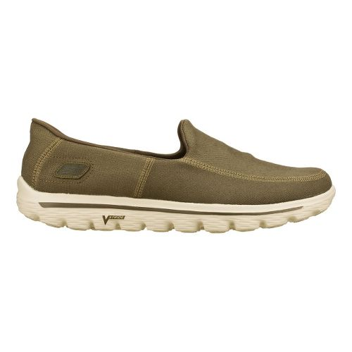 Mens Skechers GO Walk 2 - Maine Walking Shoe - Taupe 14
