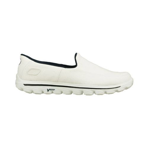 Mens Skechers GO Walk 2 - Maine Walking Shoe - White 10.5