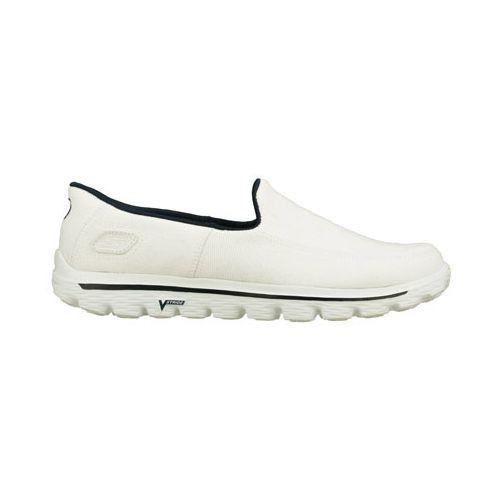 Mens Skechers GO Walk 2 - Maine Walking Shoe - White 9.5