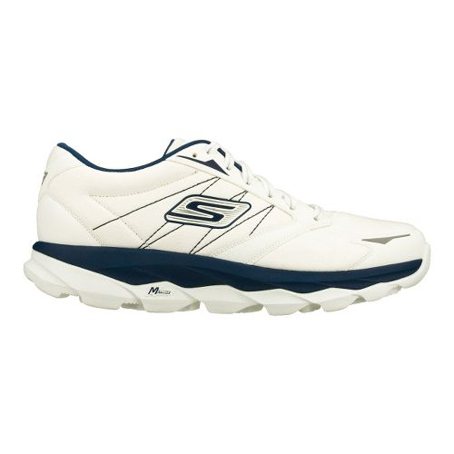 Mens Skechers GO Run Ultra LT Running Shoe - White/Navy 8