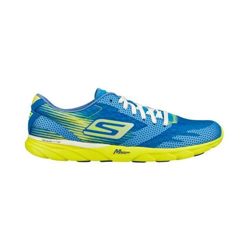 Mens Skechers GO MEB Speed 2 Running Shoe - Blue/Lime 12.5