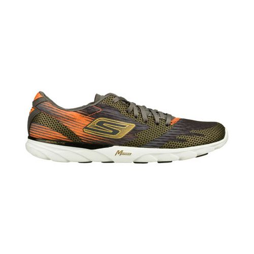 Mens Skechers GO MEB Speed 2 Running Shoe - Charcoal/Orange 6.5