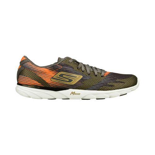 Mens Skechers GO MEB Speed 2 Running Shoe - Charcoal/Orange 8.5