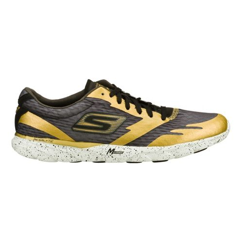 Mens Skechers GO MEB Speed 2 Running Shoe - Gold/Black 8.5