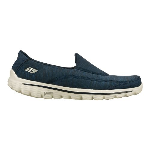Womens Skechers GO Walk 2 - Circuit Walking Shoe - Navy 6.5