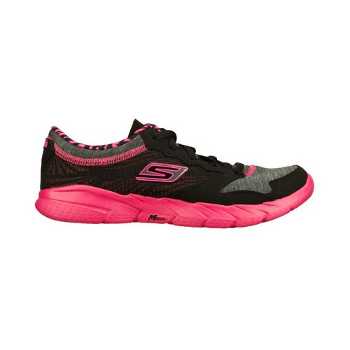 Womens Skechers GO Fit - Workout Craze Running Shoe - Black/Hot Pink 8