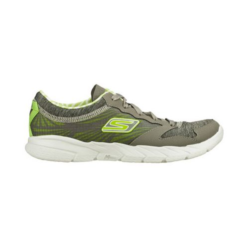 Womens Skechers GO Fit - Workout Craze Running Shoe - Grey/Lime 7.5