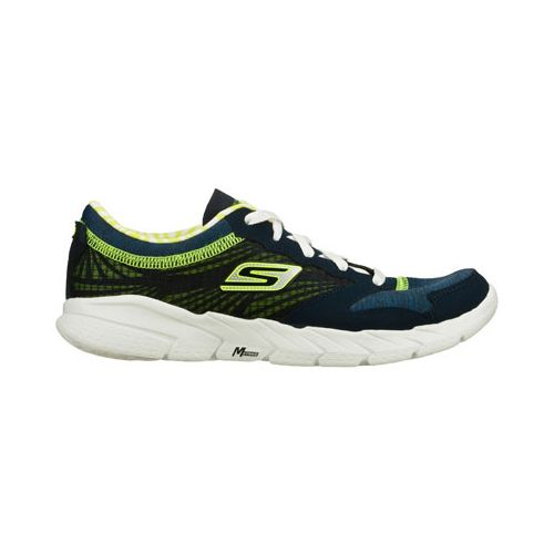 Womens Skechers GO Fit - Workout Craze Running Shoe - Navy/Lime 7.5
