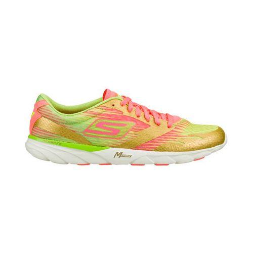Womens Skechers GO MEB Speed 2 Running Shoe - Gold 5