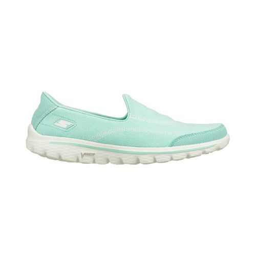 Womens Skechers GO Walk 2 - Fresco Walking Shoe - Mint 9