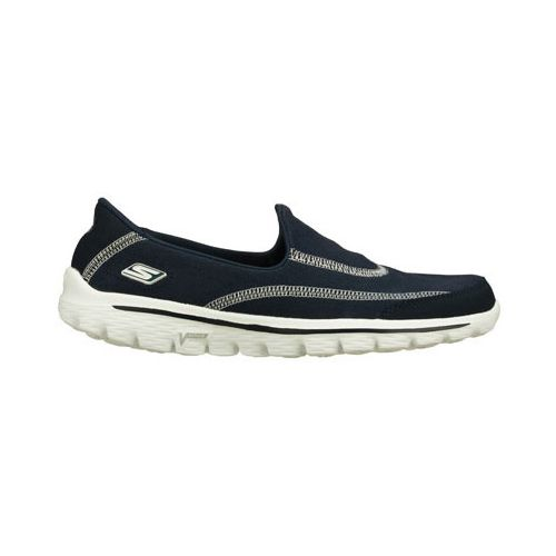 Womens Skechers GO Walk 2 - Fresco Walking Shoe - Navy 7