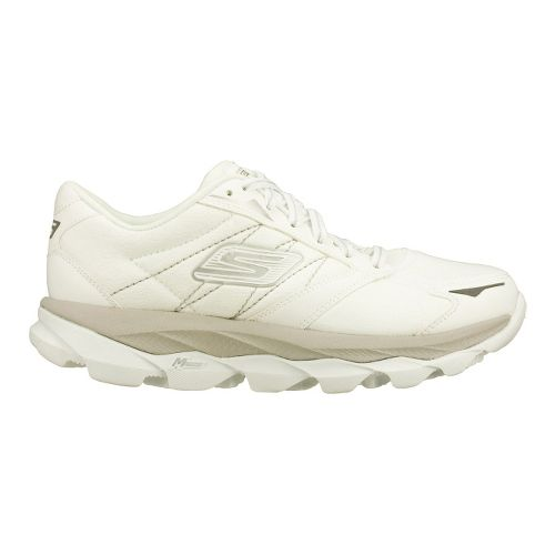 Womens Skechers GO Run Ultra LT Running Shoe - White/Silver 7.5