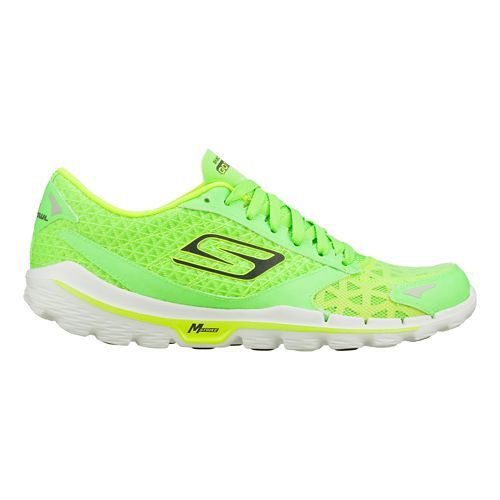 Mens Skechers GO Run 3 - Nite Owl 2.0 Running Shoe - Green 9.5