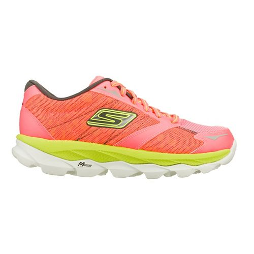 Womens Skechers GO Run Ultra - Nite Owl 2.0 Running Shoe - Hot Pink/Lime 6.5 ...