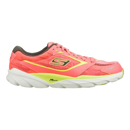 Womens Skechers GO Run Ride - Nite Owl 2.0 Running Shoe - Hot Pink/Lime 7.5 ...