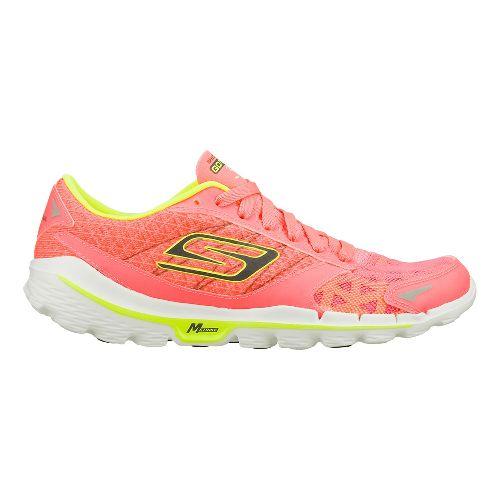 Womens Skechers GO Run 3 - Nite Owl 2.0 Running Shoe - Hot Pink/Lime 9 ...