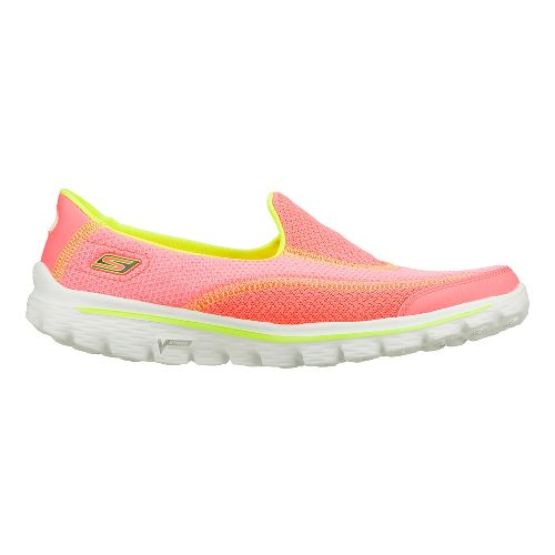 Womens Skechers GO Walk 2 - Nite Owl 2.0 Walking Shoe - Hot Pink/Lime 5 ...