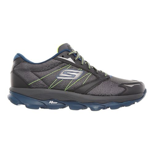 Mens Skechers GO Run Ultra - Extreme Running Shoe - Charcoal/Blue 10.5