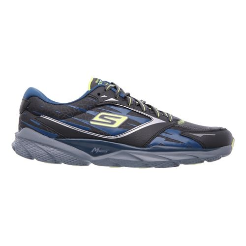 Mens Skechers GO Run Ride 3 - Extreme Running Shoe - Charcoal/Blue 12