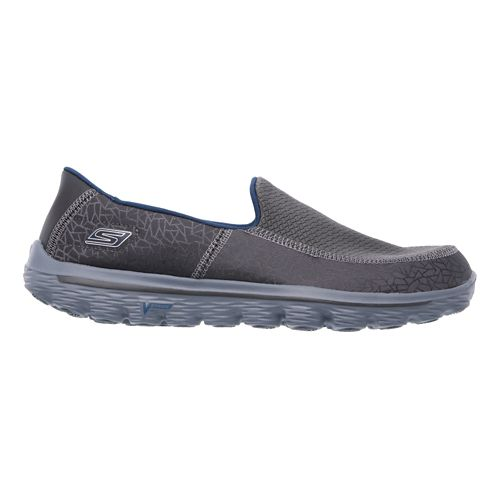 Mens Skechers GO Walk 2 - Extreme Walking Shoe - Charcoal/Blue 9.5
