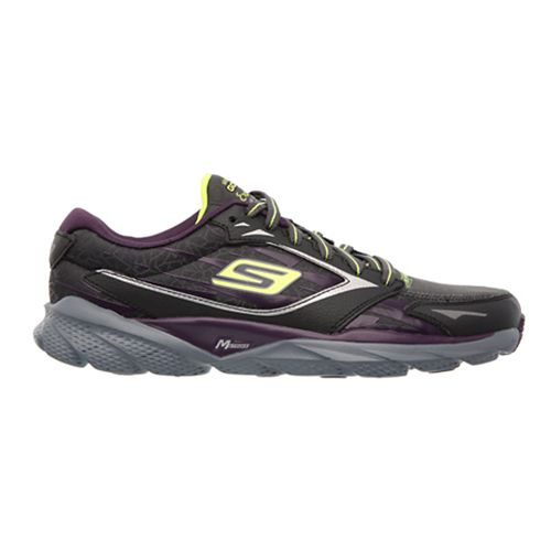 Womens Skechers GO Run Ride 3 - Extreme Running Shoe - Charcoal/Purple 7.5