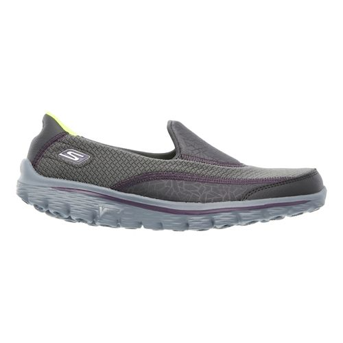 Womens Skechers GO Walk 2 - Extreme Walking Shoe - Charcoal/Purple 8.5