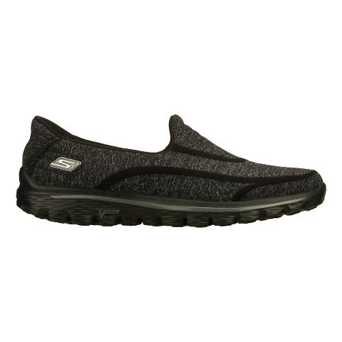 Womens Skechers GO Walk 2 - Super Sock Walking Shoe - Black 5