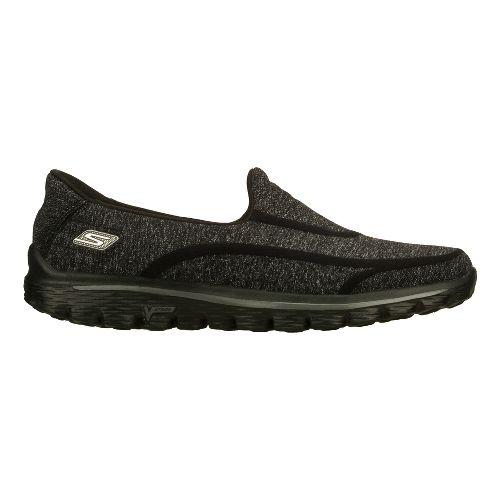 Womens Skechers GO Walk 2 - Super Sock Walking Shoe - Black 9.5