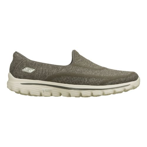 Womens Skechers GO Walk 2 - Super Sock Walking Shoe - Charcoal 7.5