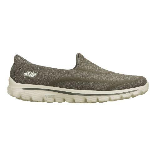 Womens Skechers GO Walk 2 - Super Sock Walking Shoe - Charcoal 9.5