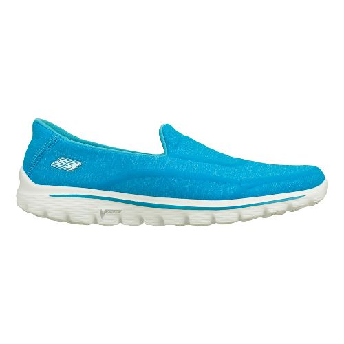 Womens Skechers GO Walk 2 - Super Sock Walking Shoe - Turquoise 7