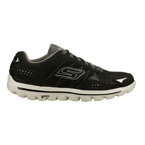 Mens Skechers GO Walk 2 - Flash Walking Shoe - Black/Grey 12.5